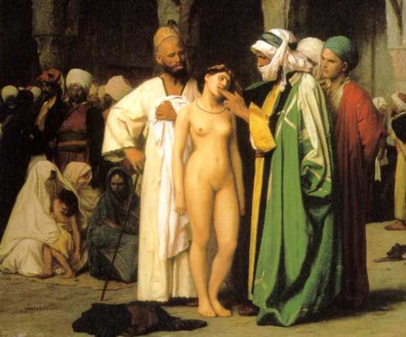 Jean Leon Geromes Slave Market oil on canvas circa 1866