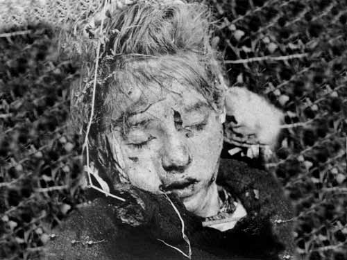 Dead German girl in World War Two